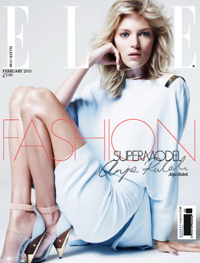 Anja Rubik Elle UK February 2013