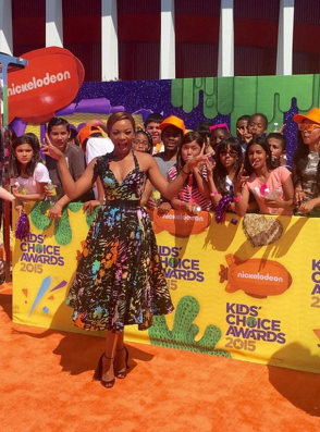 Bonang Matheba at Nickelodeon Kids Choice Awards 2015