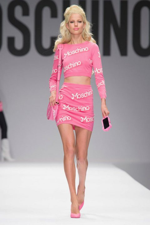 Moschino's Barbie for Spring 2015 MFW