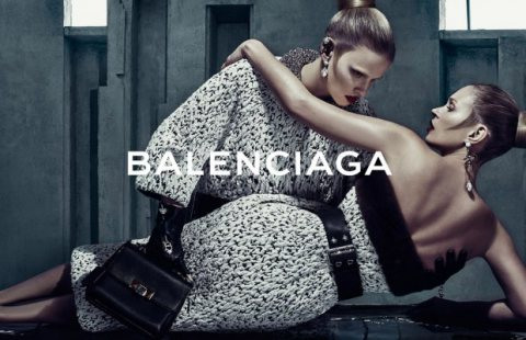 1ST LOOK: Kate Moss & Lara Stone for Balenciaga FW15