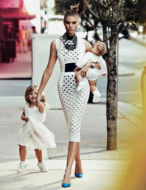 Baby on Board for Vogue Russia