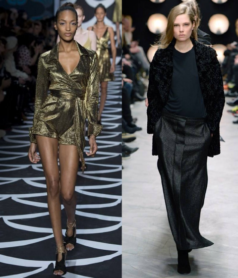 Black and Gold straight from NYFW