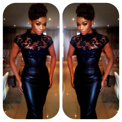 Bonang Matheba at Africa Fashion Week 2012