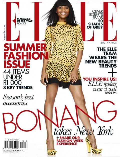 Bonang Matheba Covers Elle SA October 2012