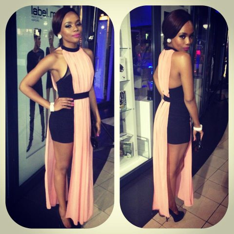 Bonang Matheba Strikes a pose in Topshop UK