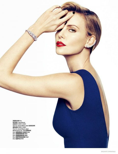 Charlize Theron's Gorgeous Harper's Bazaar China Cover