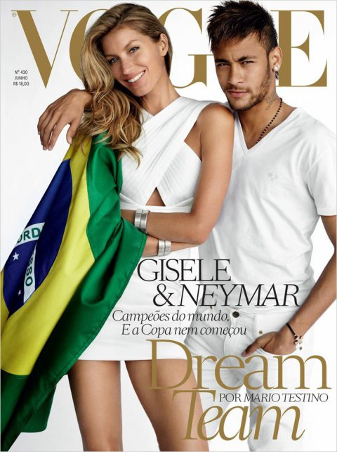 Gisele Bundchen & Neymar for Vogue Brasil June 2014