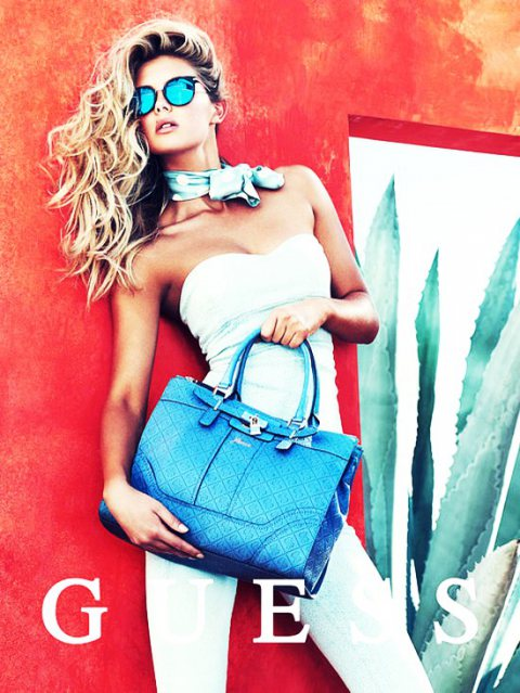 Guess Accessories Spring 2014 Campaign - Megan Williams & Heather