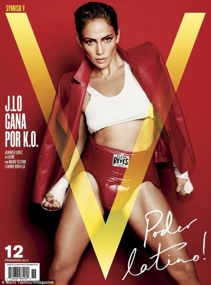 Jennifer Lopez On The Cover of V Magazine