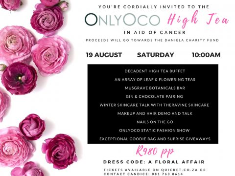 Join us at the OnlyOco High Tea in support of Cancer!