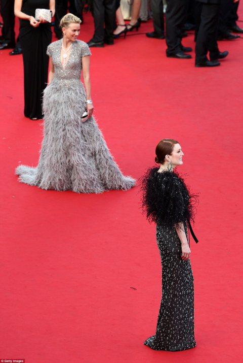 Julianne Moore and Naomi Watts at the 68th Cannes Film Festival