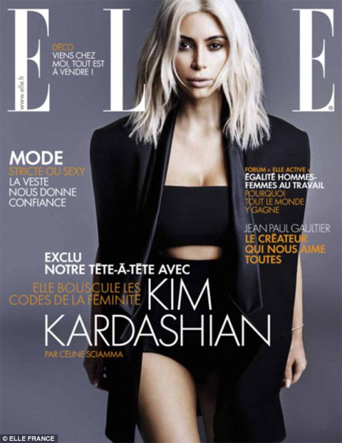 Kim Kardashian Covers Elle France