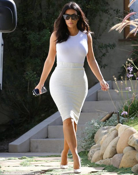 Kim Kardashian looks like the cream of the crop