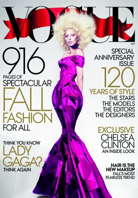 Lady Gaga Strikes a pose for VOGUE