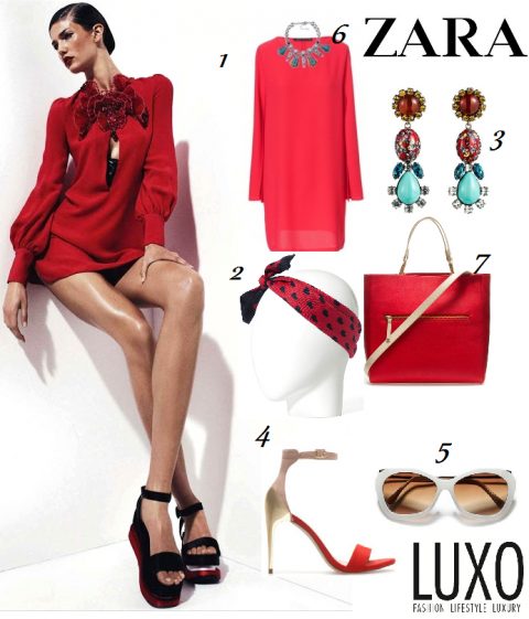 Lady in Red By ZARA