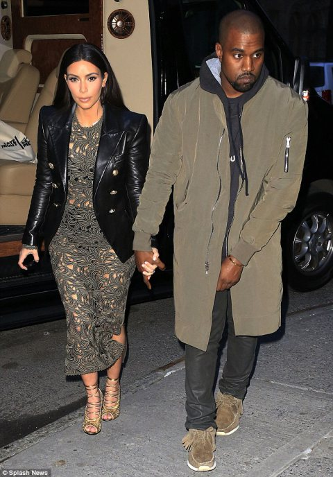 Ms Kardashian and rapper fiance join's Anna Wintour for dinner