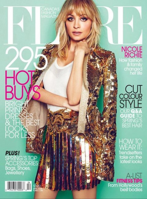 Nicole Richie for Flare magazine April 2012