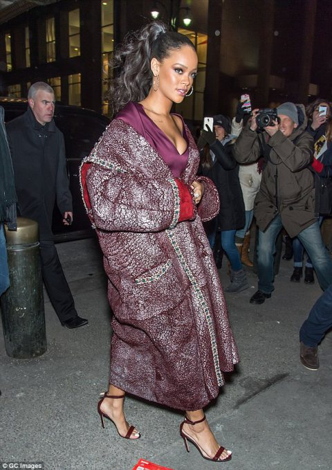 Rihanna at Zac Posen NYFW show!