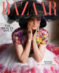 Kendall Jenner Covers Harper's Bazaar in Couture