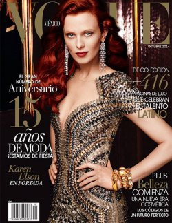 Four More Covers of Vogue Mexico October 2014