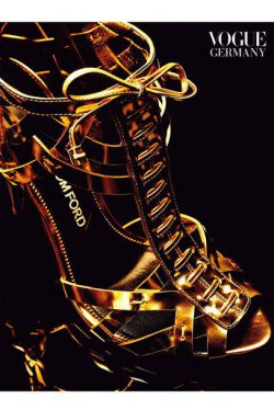 Gold Shoes are a girl's best friend
