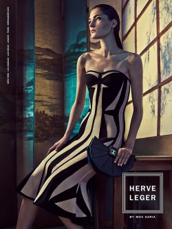Herve Leger by Max Azria Showcases Bandage Dresses for Spring 2015