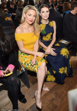 Kate Hudson and Allison Williams at Michael Kors show