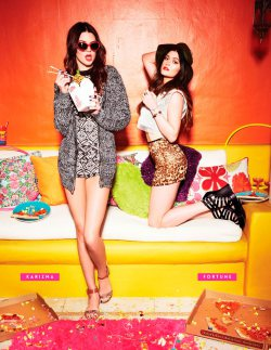 Kendall and Kylie Jenner for Steven Medden