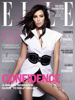 Kim Kardashian cover of Elle's 'confidence' issue