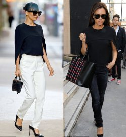 Victoria Beckham and Nicole Richie spotted in the same top