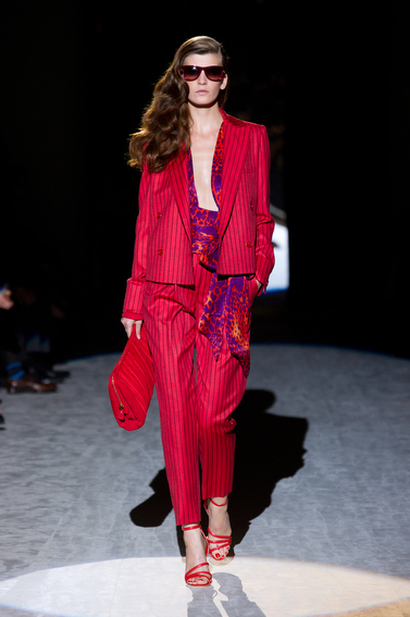 The Red Tailored Pants Suit