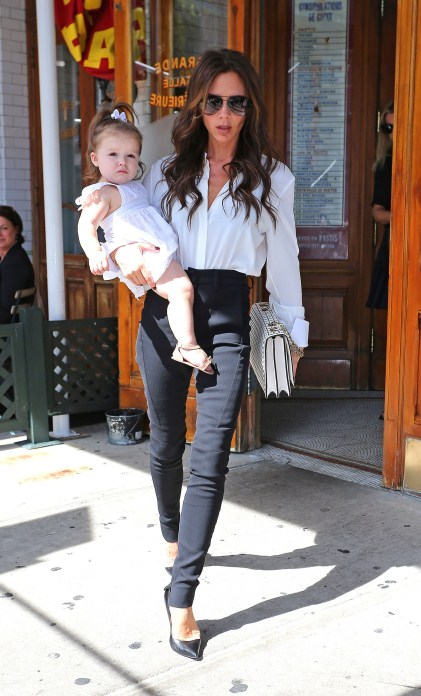 Victoria and Harper Beckham lunch in New York