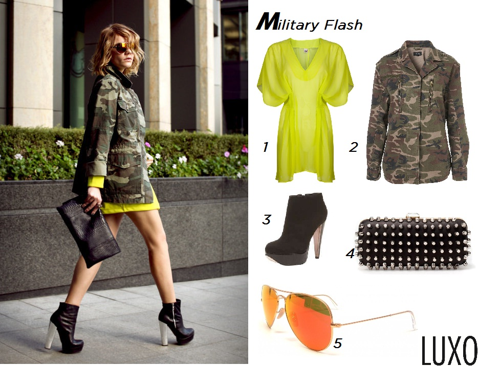 Military fashion inspiration