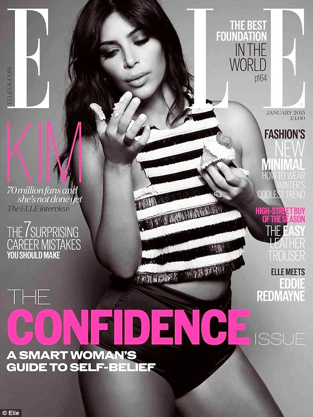 kim kardashion for elle magazine