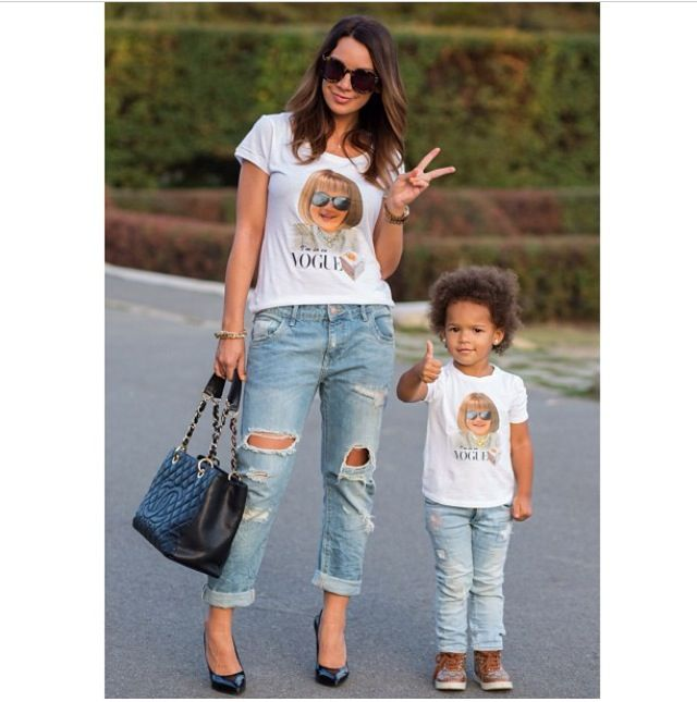 Mom and child street style