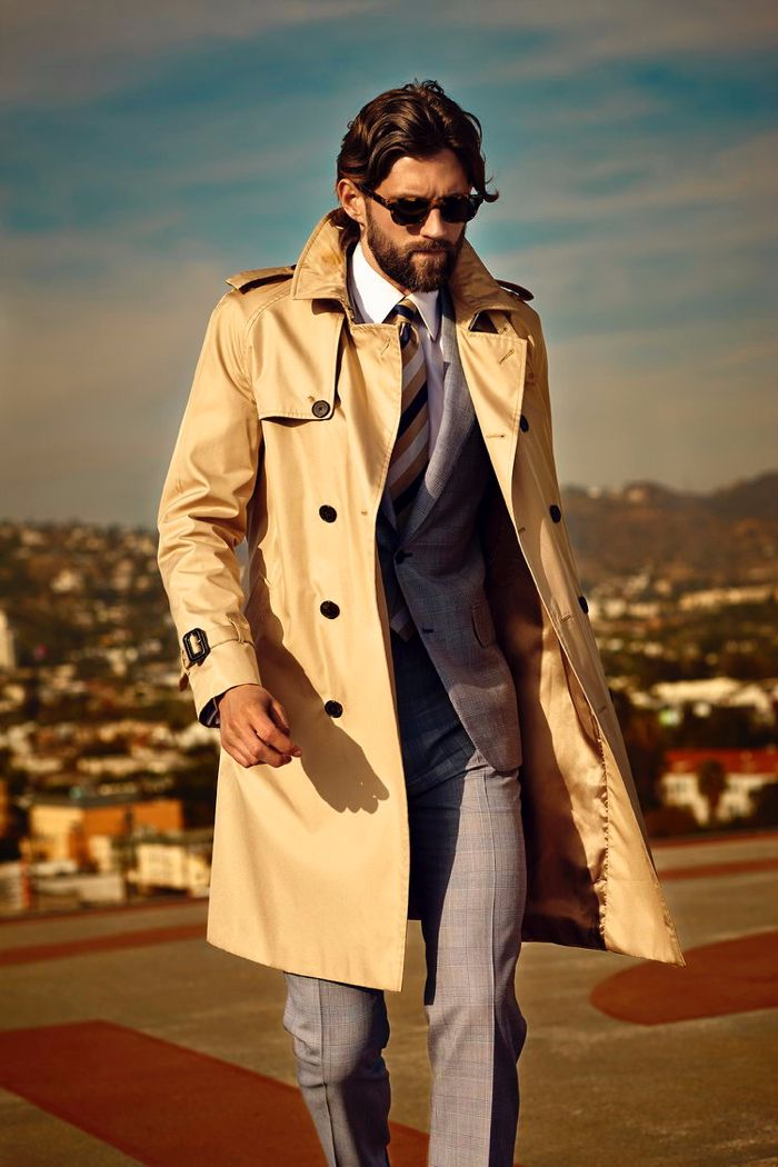 Trench Coats for Men Winter 2015