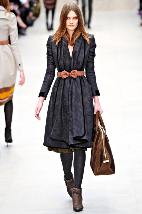 Burberry Winter Trench Coat Trend 2012