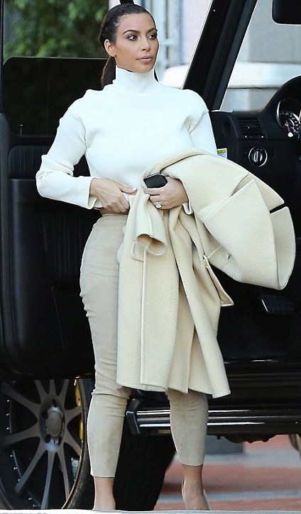 kim kardashian look of the day