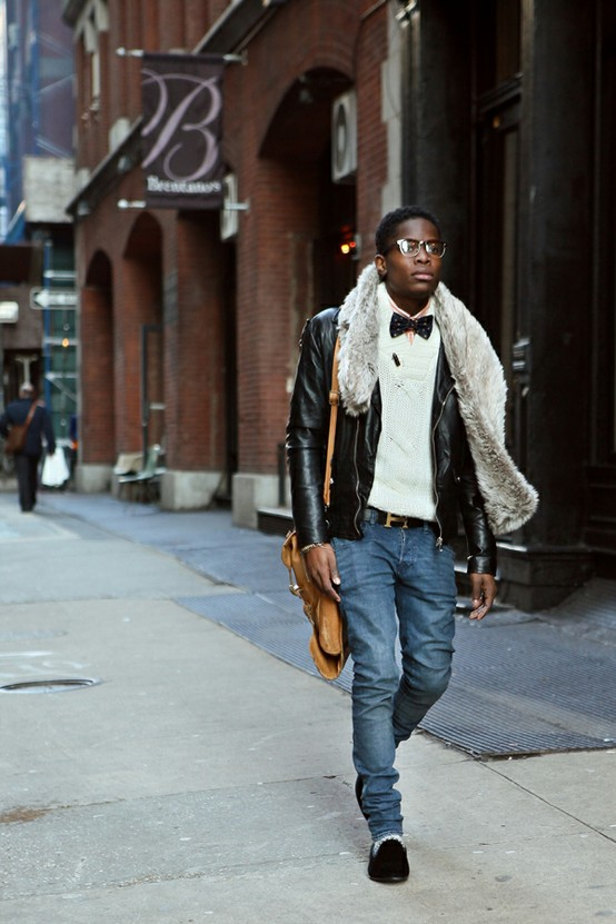 Fashionable men on the streets LUXO