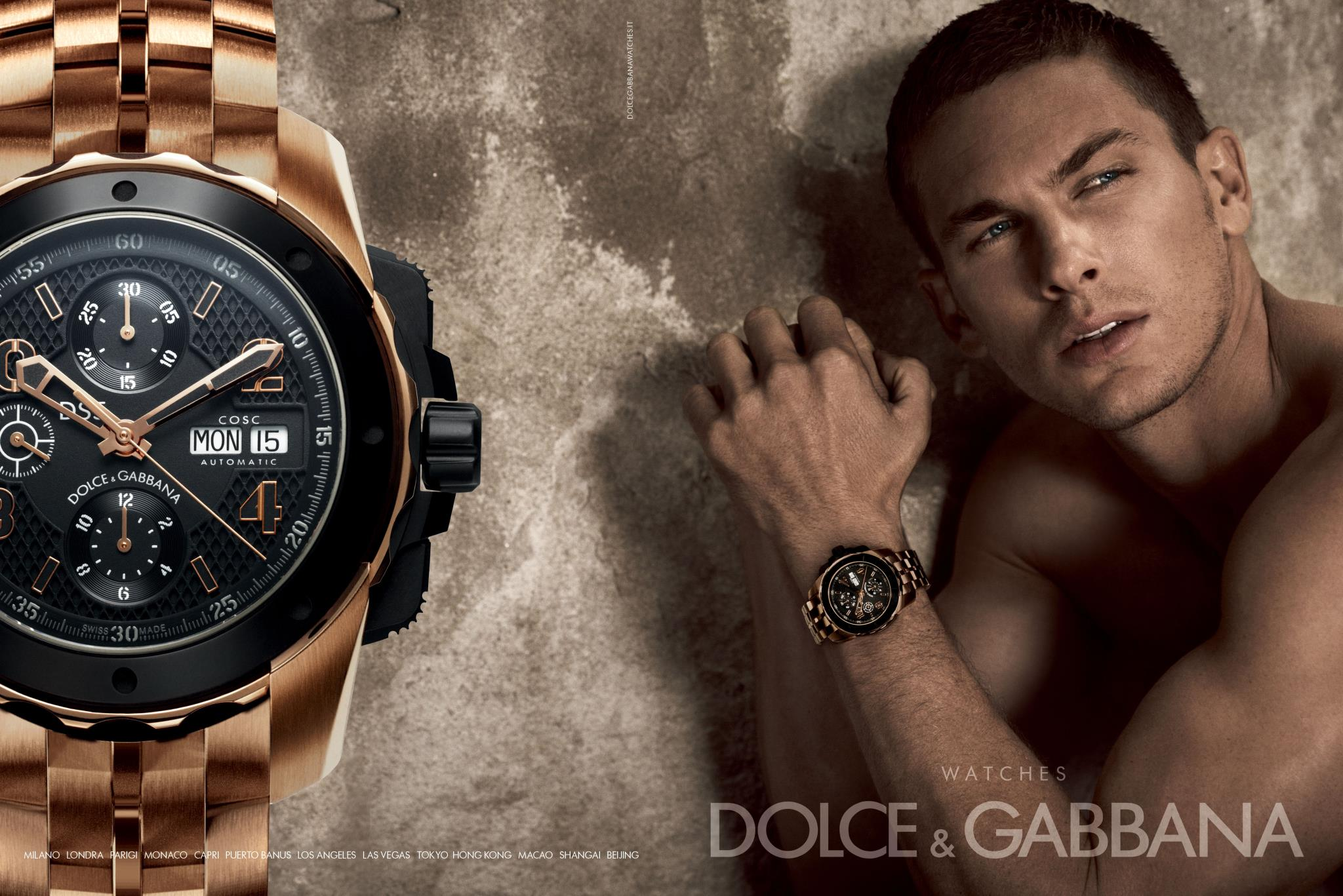 Dolce and Gabbana watch campaign 2012