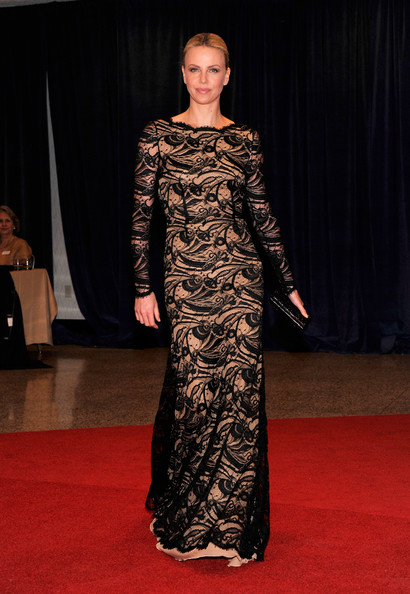 Charlize Theron at Correspondence White House DInner 2012