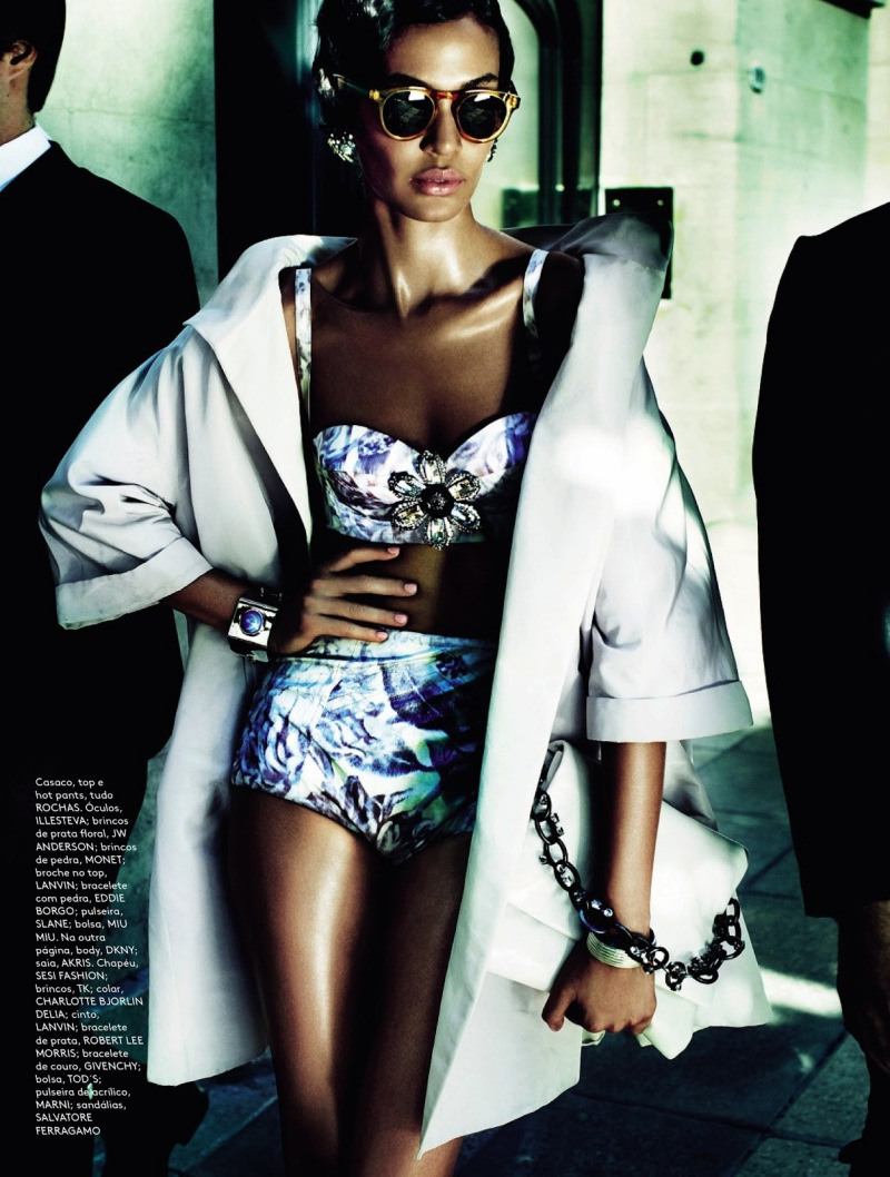 Joan Smalls for Vogue Brazil June 2013