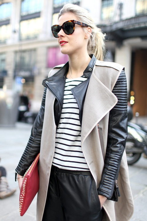 Leather Sleeves trend