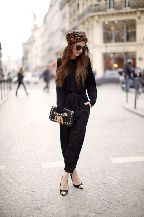 Get the Look; Black Jumpsuit