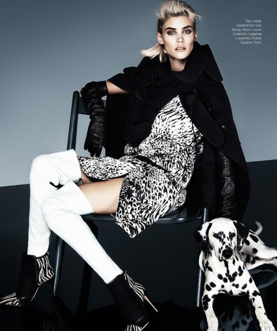 Monochrome editorial for Bazaar Latin America