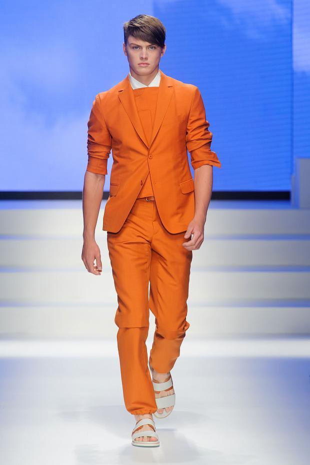 Pop of orange colour trend SS 2014