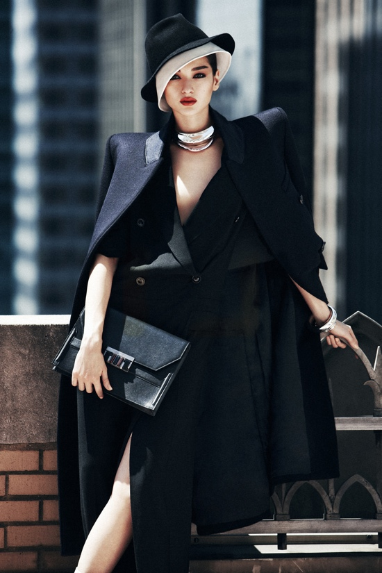 Chic winter fashion with marie claire september 2012