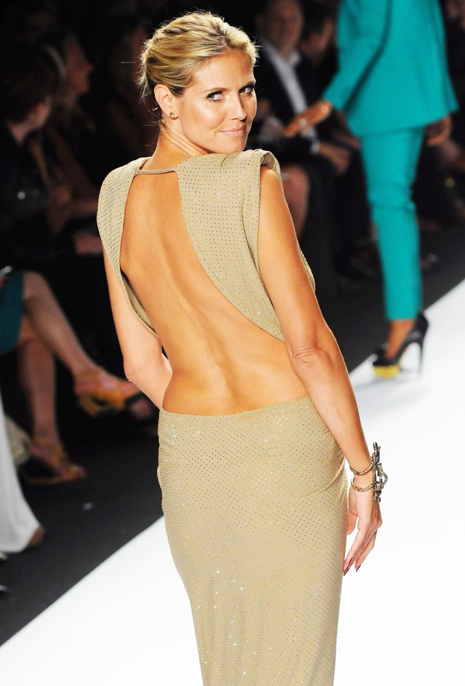 Heidi Klum at New York Fashion Week 2012