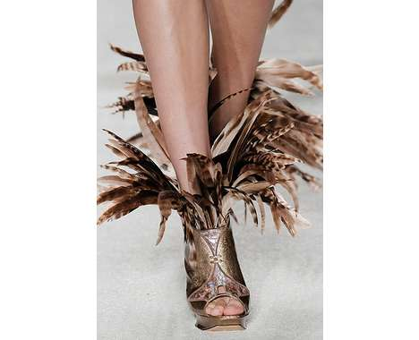 Feather fashion trend luxo 2012