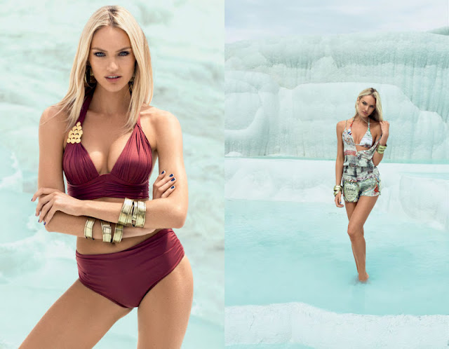 candice swanepoel for agua de coco spring summer 2013